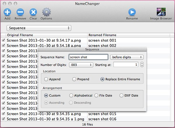 Change the filename and tack on a number to keep everything organized