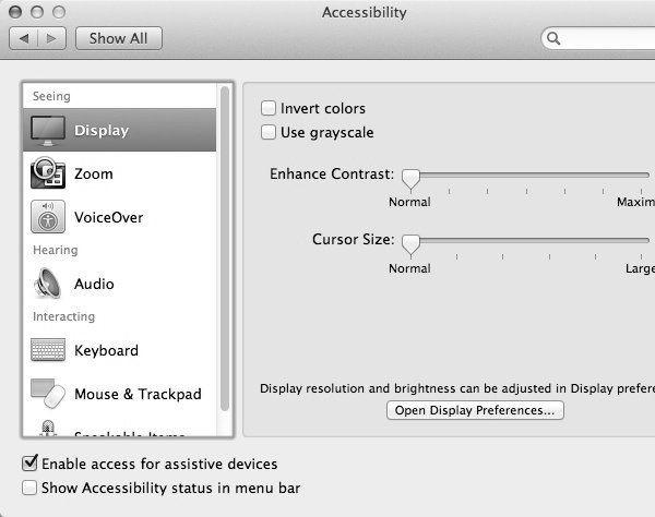 Selecting grayscale will desaturate the colours on your display