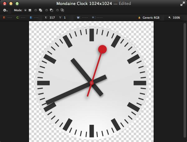 Using Pixelmator to create the app icon