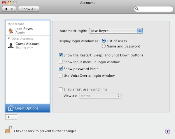 Ensuring a password is not required when booting the Mac