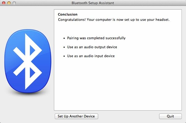 One paired, the setup assistant will summarise what services it can use