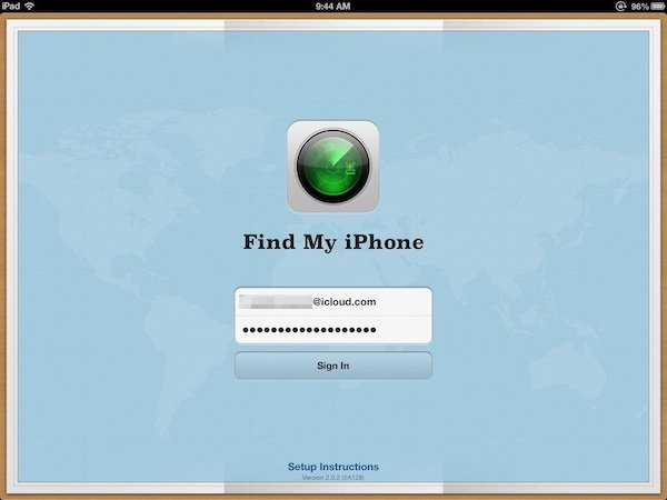 You may also track your Mac via the Find My iPhone app.