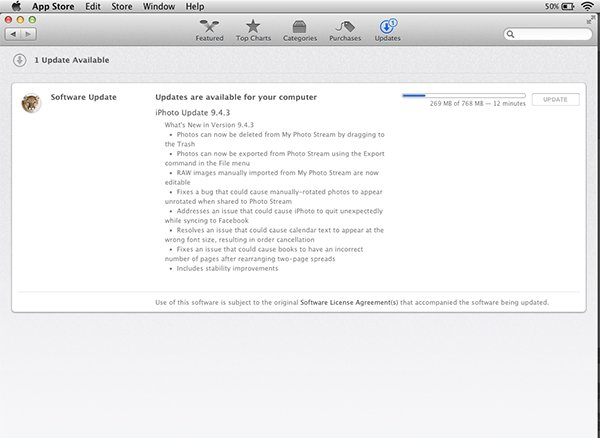 Once You Have Installed The Application You Can Run Software Update To Download Available Updates From The App Store