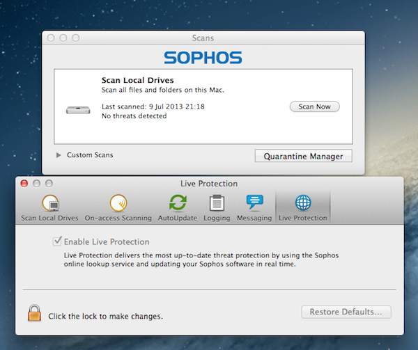 Sophos is far more extensive, but more expensive at the same time.