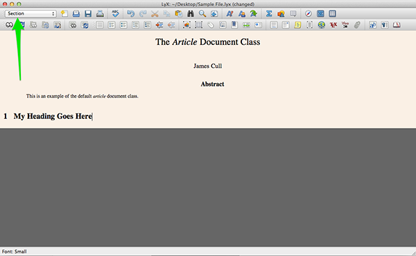 Working with layouts within your LyX document.
