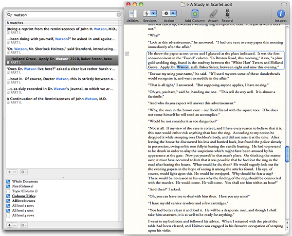 OmniOutliner can help you create amazing outlines for your novel (amongst other things, of course!).