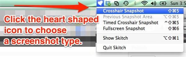 choose capture type skitch