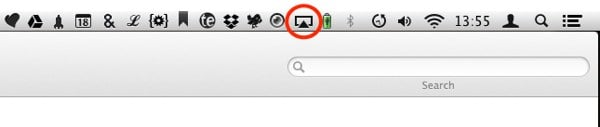 AirPlay Mirroring can be activated via the menu bar