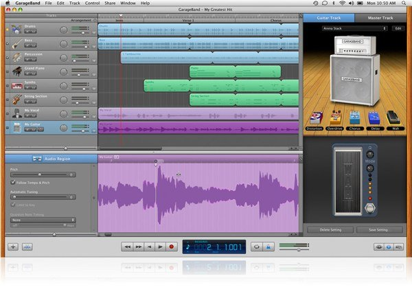 GarageBand is a great app for those wanting to learn how to make music on the Mac