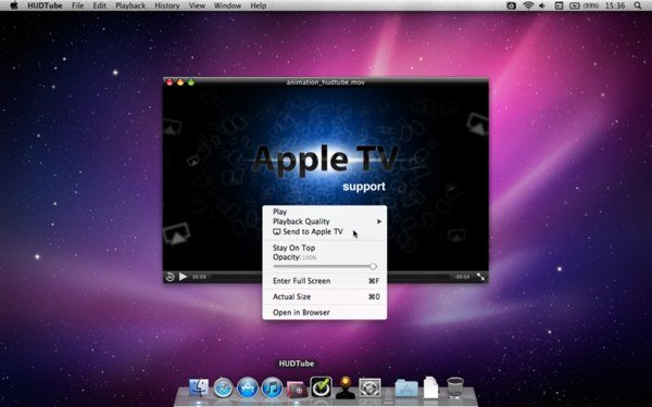HUDTube provides a way of streaming internet video from Vimeo and YouTube to your Apple TV