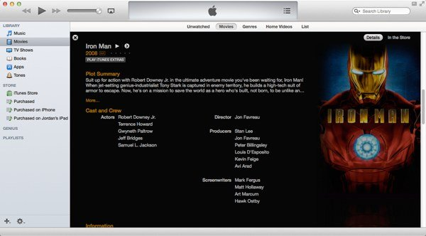 iTunes provides native AirPlay support for any video files you may have within your library