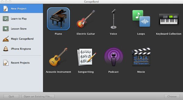 Selecting the correct project will load the required presets for the work youre doing
