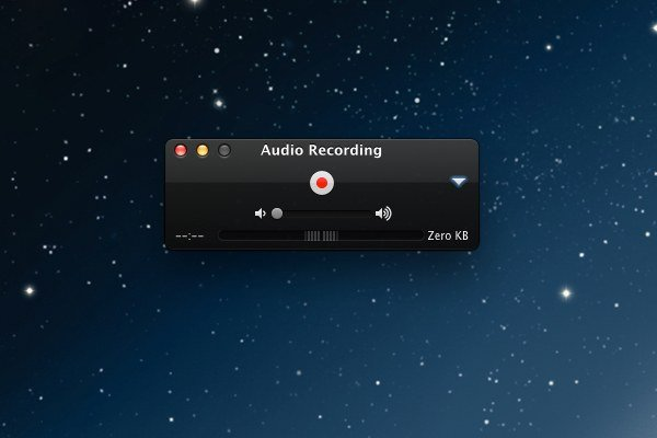 QuickTime Players record functions are quite sparse but thats not necessarily a bad thing