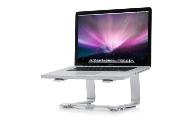 Using a stand to raise your MacBook Pro