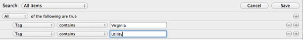 1Password Search Criteria
