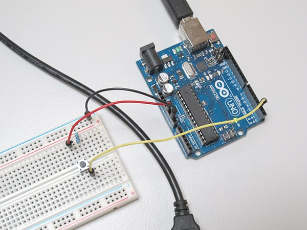 Circuit with Arduino and breadboard