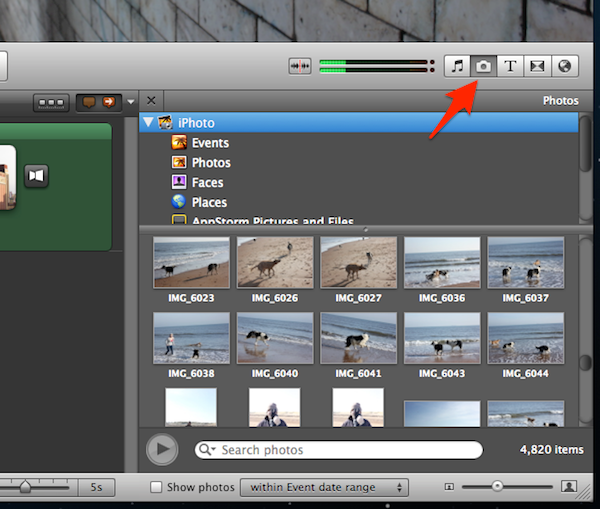 Finding images is quick and easy with the ability to search iPhoto.