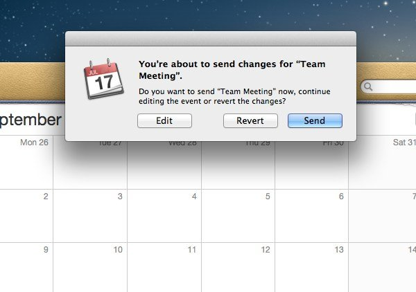 Changing event details that have attendees will also include the option of notifying them of changes, also.