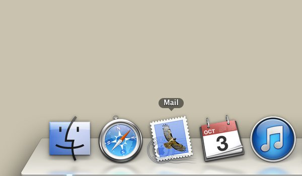 Click the icon resembling a postage stamp to launch Mail.