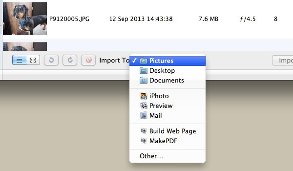 Click Import To to change location.
