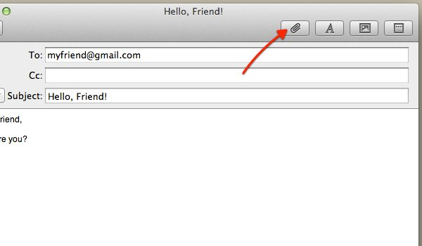 Click the Paperclip icon to add an attachment to your email.