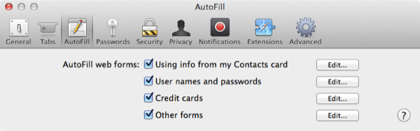 I can't show you all my passwords, so we're just going to look at a general screen here.