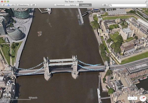 Apple Maps Flyover feature