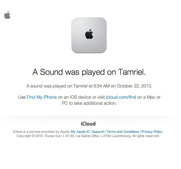 iCloud informs you whenever any of the Find My iPhone features are used.