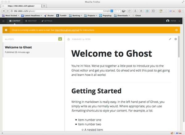 Editing a Ghost Blog