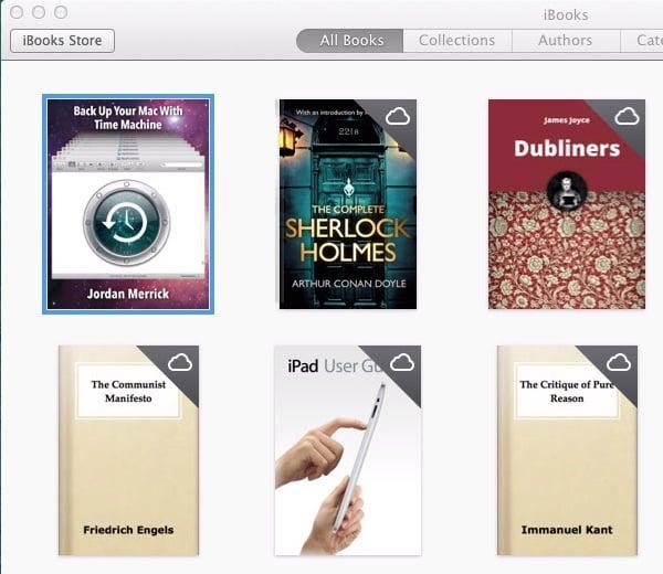 iBooks in the cloud