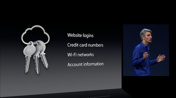 The introduction of iCloud Keychain at WWDC 2013.
