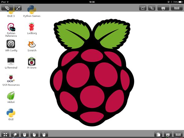 VNC Ipad screenshot