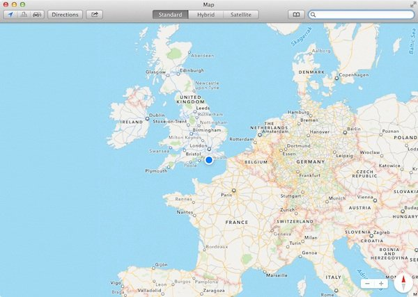 Present location denoted by blue dot