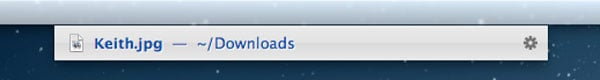 Browsing the Downloads folder
