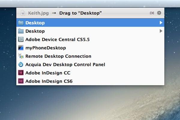 Dragging Keith.jpg to the Desktop using Launchbar