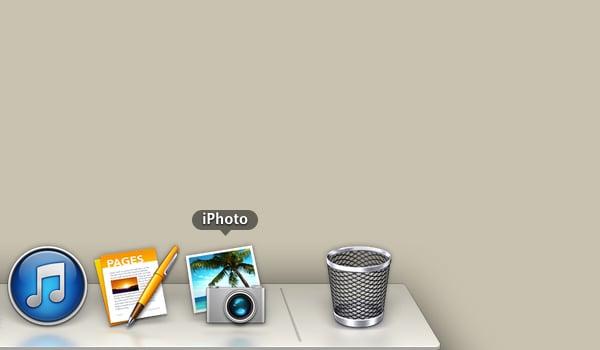 Launch iPhoto.