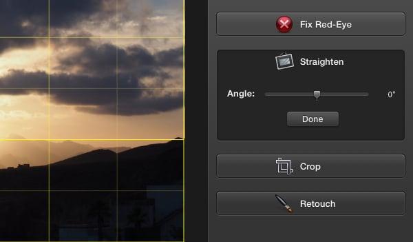 Click Straighten.