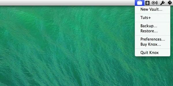 The Knox menubar app