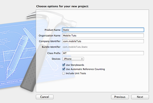 Customizing Table View Cells - Static Cells - Project Setup