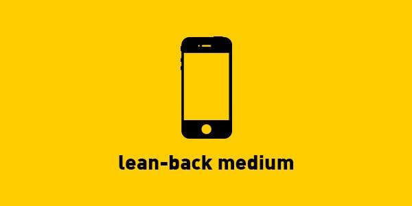 mobile lean-back