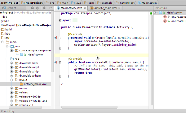 Project in Android Studio