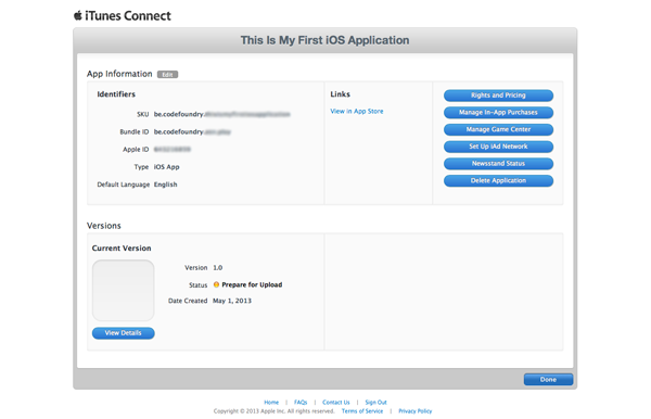 How To Submit an iOS App to the App Store - Your Applications Summary