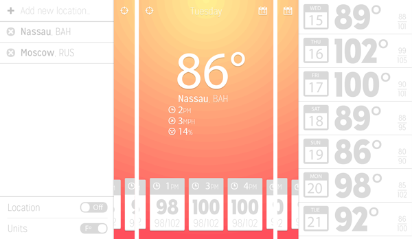 Create a Weather App with Forecast – User Interface - Chris Carey's Design
