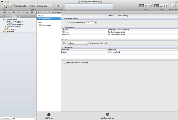 iOS Quick Tip: Managing Configurations With Ease - Project Configurations