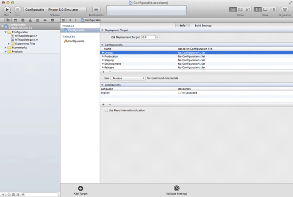 iOS Quick Tip: Managing Configurations With Ease - Three Custom Configurations