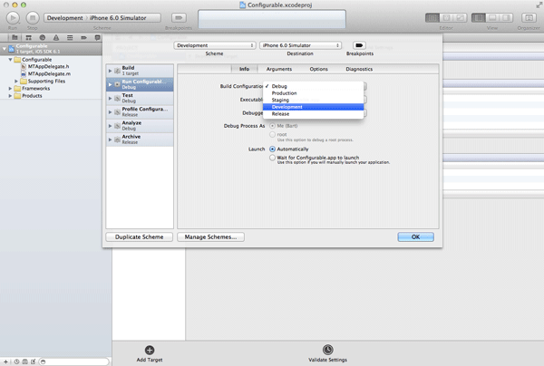 iOS Quick Tip: Managing Configurations With Ease - Creating a Custom Xcode Scheme