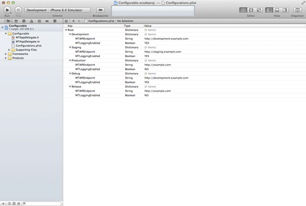 iOS Quick Tip: Managing Configurations With Ease - Configuration Property List