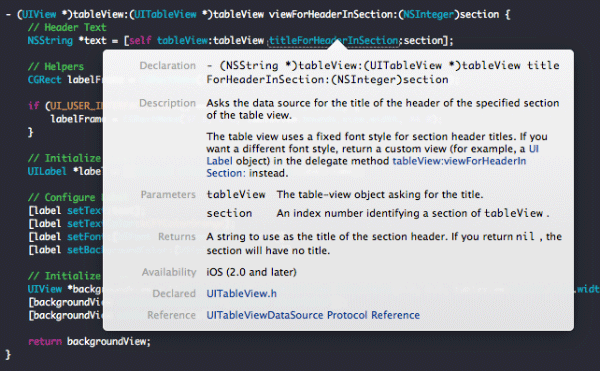 iOS Quick Tip: 5 Tips to Speed Up Your Development - The Documentation is Your Friend