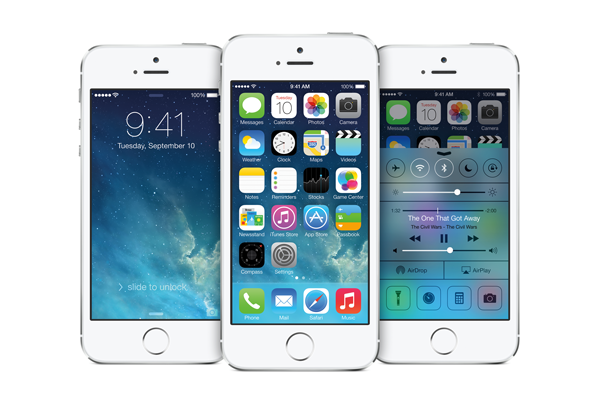 The redesigned user interface of iOS 7.