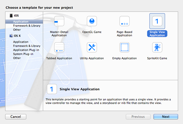 Create the project in Xcode.